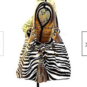 Charming Charlie Bag Animal Print Zebra Hobo